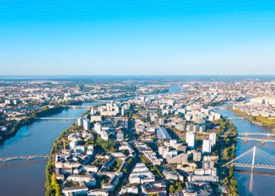 Vue aérienne Nantes