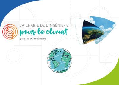 logo syntec ingénierie et d'une planète avec deux photos d'environnement