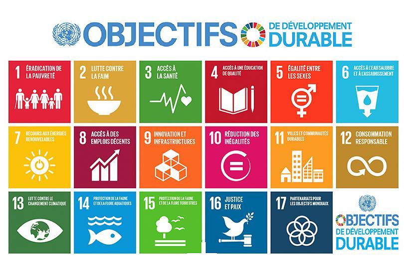 liste de 17 objectifs durables